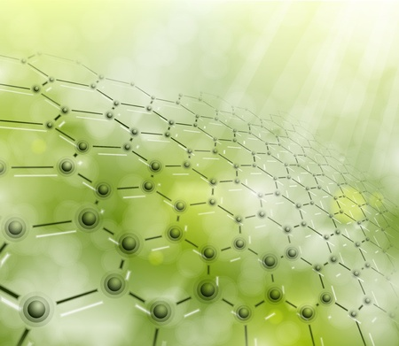 cell biology: Abstract background of the molecular structure  Illustration