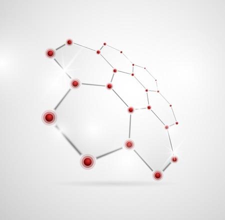 Imágenes abstractas de las estructuras moleculares en 3D Eps 10