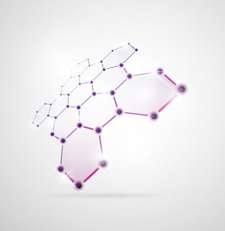 Images abstraites de structures moléculaires en 3D Eps 10