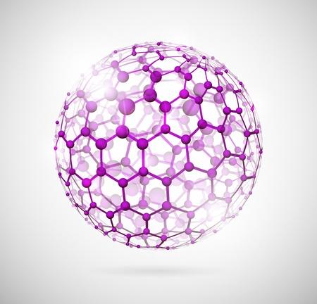 Imagen de la estructura molecular en forma de una esfera 10 Eps Ilustración de vector