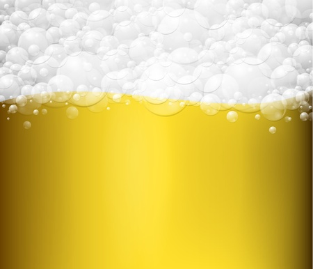 Background with beer and foam