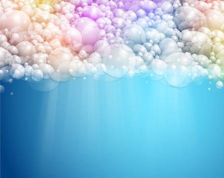 Résumé de fond avec de l'eau et la mousse