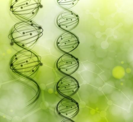 gezondheid: DNA-moleculen op de natuurlijke achtergrond Eps 10 Stock Illustratie