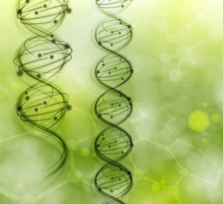 DNA molecules on the natural background  Eps 10 Vector