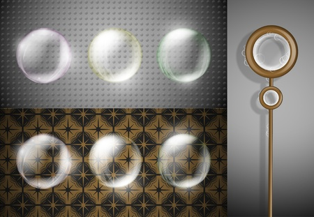 Set of soap bubbles, suitable for any background Stock Vector - 13005730