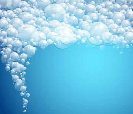 water bubbles: Background with water bubbles  foam