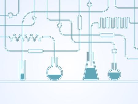Ilustración del laboratorio químico