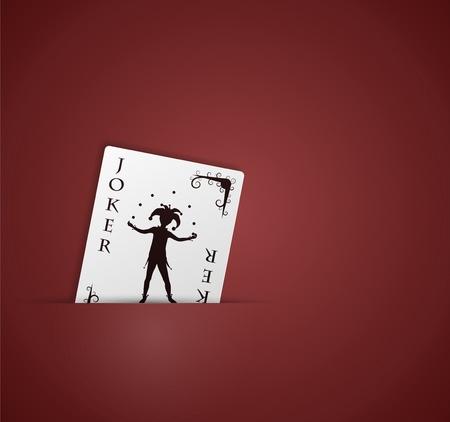 joker card: Joker card in pocket  Eps 10 Illustration