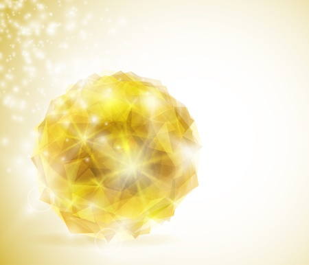 gemstone jewelry: Precious crystal in the shape a sphere  Eps 10 Illustration