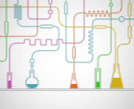 science chemistry: Illustration of the chemical laboratory