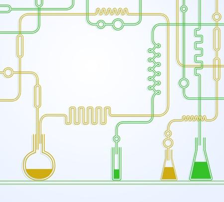 material de vidrio: Ilustraci�n del laboratorio qu�mico Vectores