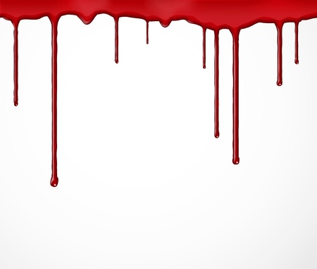 paint drips: Background with flowing blood