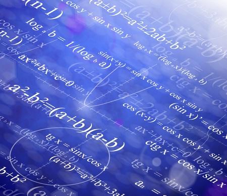 Achtergrond met wiskundige formules
