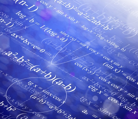 calculations: Background with mathematical formulas  Illustration