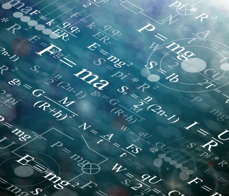 physic: Background with physical formulas