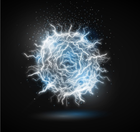 lightning: Ball of energy from lightning  Fireball   Eps 10