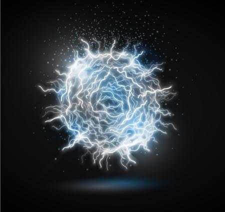 ball lightning: Ball of energy from lightning  Fireball   Eps 10
