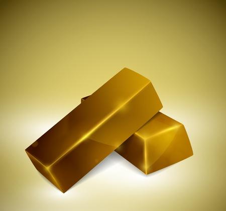 gold ingot: Two bars gold