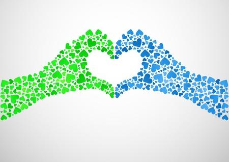 bondad: Corazón símbolo de las dos manos
