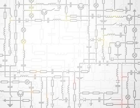 prototipo: Esquema de circuito eléctrico con espacio para texto