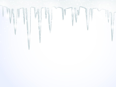 Background with hanging icicles  Vector