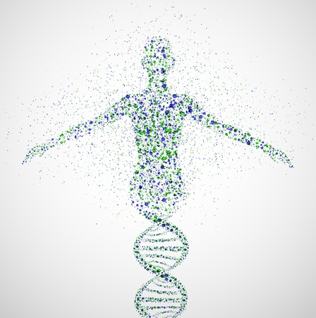 Abstract model of woman of DNA molecule  Eps 10 Illustration