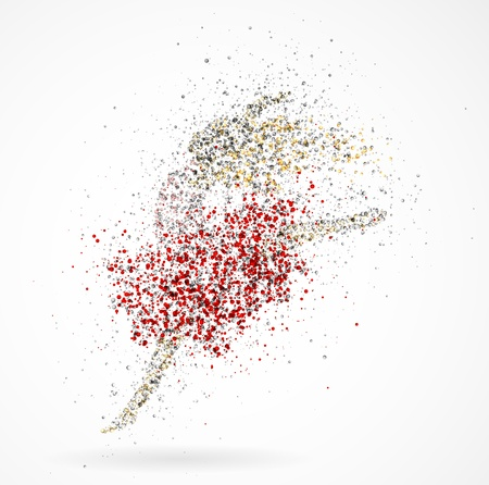 flexible girl: Abstract image of a dancing girl from the circles  Eps 10