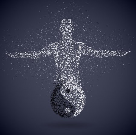 yin y yang: Símbolo del yin y el yang, lo masculino mostrando Eps yang 10