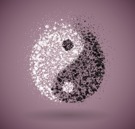 yin yang symbol: Symbol of yin and yang of the circles  Eps 10