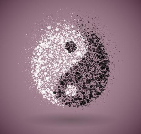 yin: Symbol of yin and yang of the circles  Eps 10