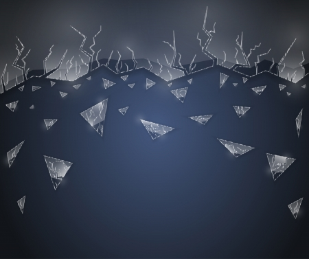 Background with cracked glass Vector