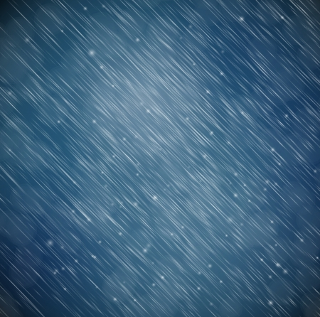 snow fall: Natural background with rain  Illustration