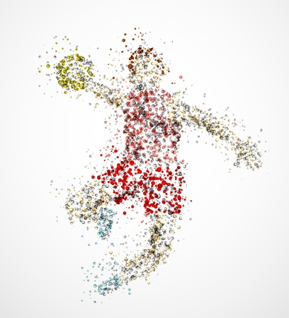 balonmano: Resumen jugador de balonmano, lanzar la pelota