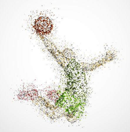 Abstract basketball player in jump  Eps 10 Vector