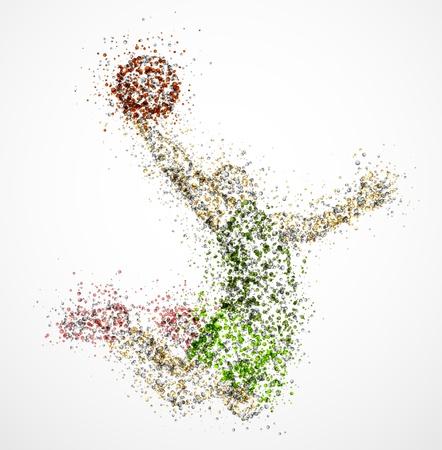 baloncesto: Resumen jugador de baloncesto en el salto de 10 Eps