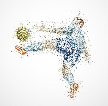 Football player, kick a ball Stock Vector - 14156204