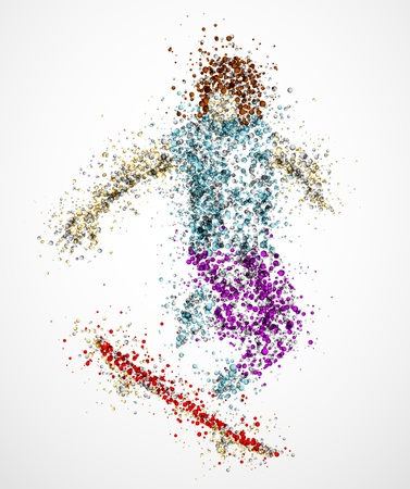 Abstract skateboarder in the jump Vector