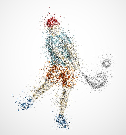 Abstract golf player, kick the ball Vector