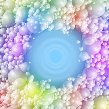 カラフルな泡と背景  イラスト・ベクター素材