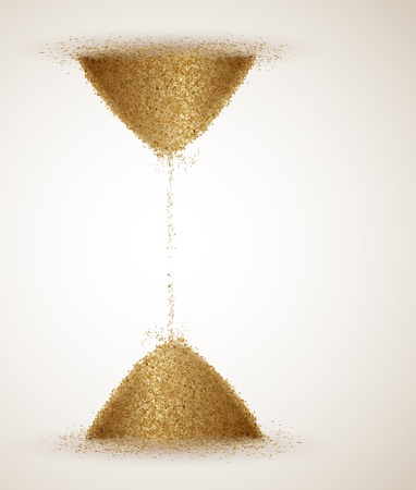 sand timer: Hourglass or the infinity of time