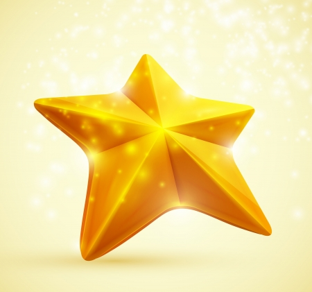 3D symbol of the golden stars  Eps 10