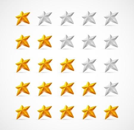 votaciones: Valoraciones con estrellas en 3D Eps 10