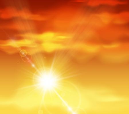 sol radiante: De fondo natural con puesta de sol
