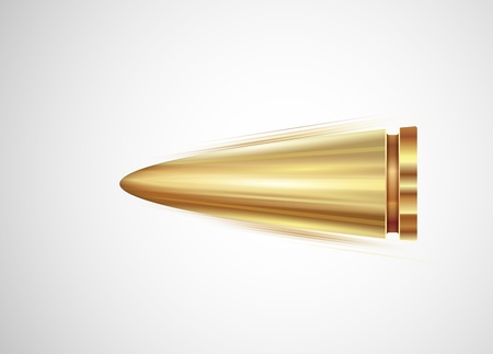 the destroyer: Flying isolated bullet Illustration