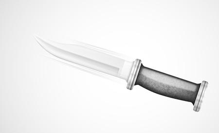 Flying isolated knife