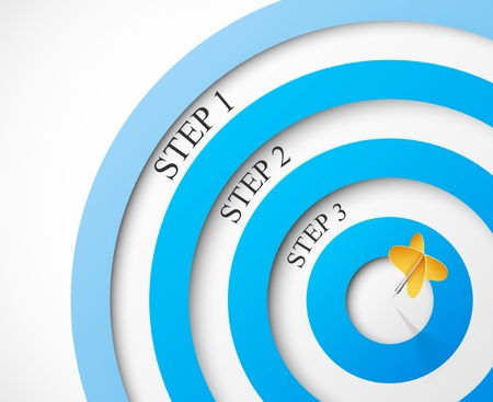 goal achievement: Steps to the target Illustration