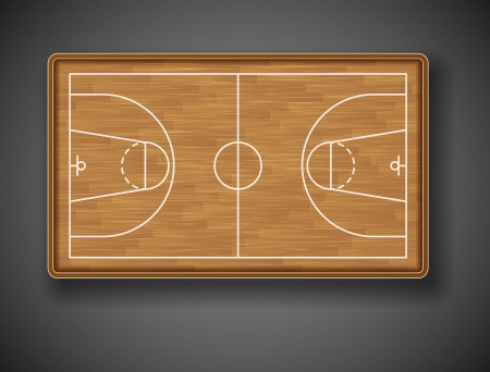 flooring design: Basketball court on top  Eps 10 Illustration