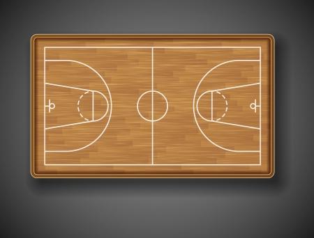 tarima madera: Cancha de baloncesto en el top 10 Eps Vectores