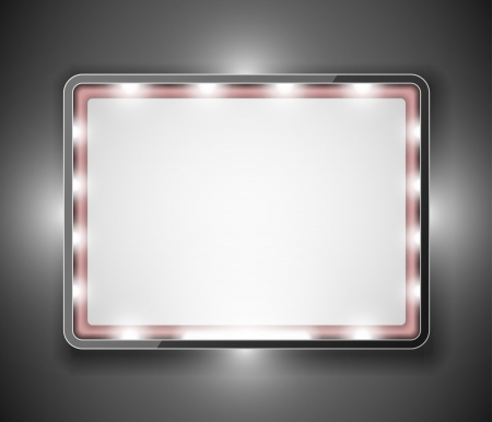 Empty frame in form of rectangle for your text  Eps 10 Vector