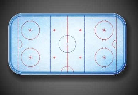 hockey: Hockey stadium on top  Eps 10 Illustration